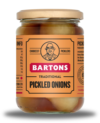 Traditional Pickled Onions | Bartons Pickles